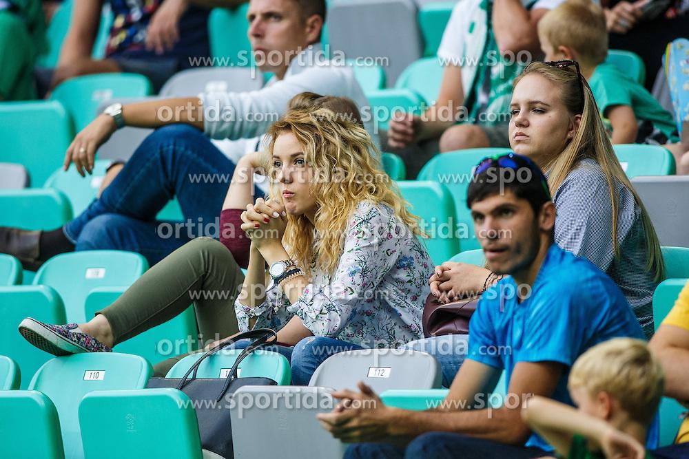 Spectators during football match between NK Olimpija Ljubljana and ND Gorica  in 8th Round of Prva liga Telekom Slovenije 2016/17, on September 11, 2016 in Stozice, Slovenia. Photo by Grega Valancicc / Sportida