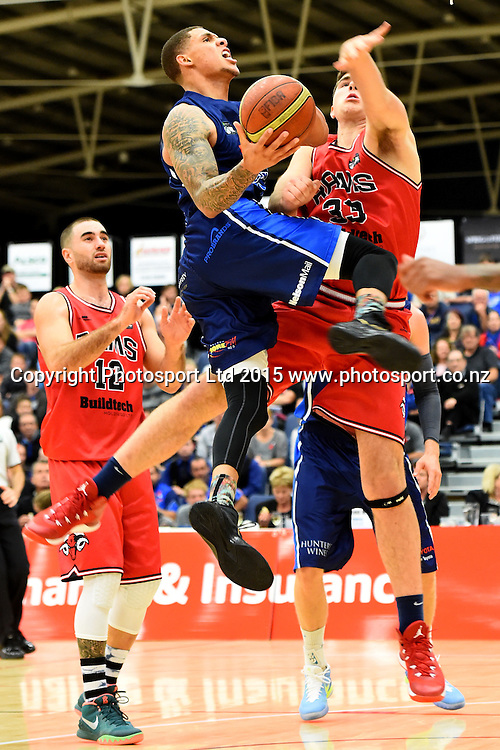 Nelson player McKenzie Moore during their NBL Basketball game between the Nelson Giants v Canterbury Rams. Saxton Stadium, Nelson, New Zealand. Friday 24 April 2015. Copyright Photo: Chris Symes / www.photosport.co.nz