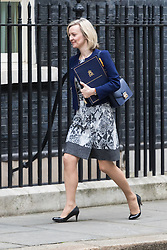 Downing Street, London, October 25th 2016. Justice Secretary and Lord Chancellor Liz Truss arrives at 10 Downing Street for the weekly cabinet following a Heathrow Third Runway Sub-Committee meeting at the same venue.