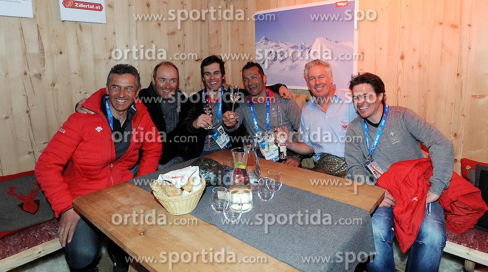 14.02.2014, Austria Tirol House, Krasnaya Polyana, RUS, Sochi, 2014, im Bild SANDRO VILETTA, TEAM // SANDRO VILETTA, TEAM during the Olympic Winter Games Sochi 2014 at the Austria Tirol House in Krasnaya Polyana, Russia on 2014/02/14. EXPA Pictures © 2014, PhotoCredit: EXPA/ Erich Spiess