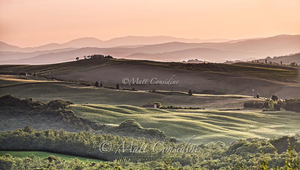 Valley and villas in late afternoon light. (Photo by Travel Photographer Matt Considine)