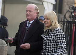 David Frost Memorial Service at Westminster Abbey<br /> <br /> David Davies and wife (?)<br /> <br /> <br /> <br /> <br /> Pic by Gavin Rodgers/Pixel 8000 Ltd © Licensed to London News Pictures. Photo credit: Gavin Rogers/LNP
