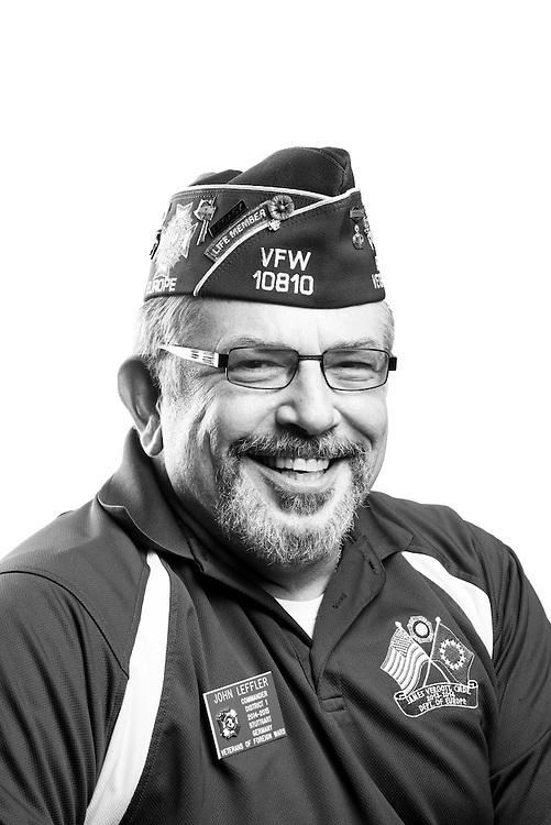 John L. Leffler<br /> Army<br /> E07<br /> Special Forces<br /> 1972 - 2010<br /> Bosnia, Kosovo<br /> Haiti<br /> OEF<br /> <br /> Veterans Portrait Project<br /> St. Louis, MO