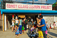 Brooklyn; New York; U.S. - August 9; 2014 - The Fourth Annual History Day at Deno's Wonder Wheel Amusement Park and The Coney Island History Project, has family fun music, history, and entertainment at historic Coney Island. The theme of this year's festivities was the return of the Astroland Rocket.