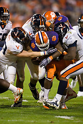 November 21, 2009; Clemson, SC, USA;  Clemson Tigers running back C.J. Spiller (28) during the fourth quarter against the Virginia Cavaliers at Memorial Stadium.  Clemson defeated Virginia 34-21.