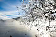 Hoar frost and mist on Ullswater