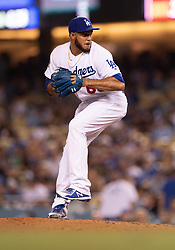 June 12, 2018 - Los Angeles, CA, U.S. - LOS ANGELES, CA - JUNE 12: Los Angeles Dodgers relief pitcher Yimi Garcia (63) pitches during the game between the Texas Rangers and the Los Angeles Dodgers on June 12, 2018, at Dodger Stadium in Los Angeles, CA. (Photo by David Dennis/Icon Sportswire) (Credit Image: © David Dennis/Icon SMI via ZUMA Press)