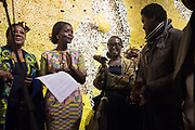 NANA OFORIATTA AYIM , CURATOR, OPENING OF THE GHANA PAVILION, Designed by David Adjaye, Opening of the Venice Biennale, Venice, 8 May 2019