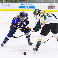 1st year forward Merissa Zerr (24) of the Regina Cougars in action during the Women's Hockey Home Game on October 14 at Co-operators arena. Credit: Arthur Ward/Arthur Images