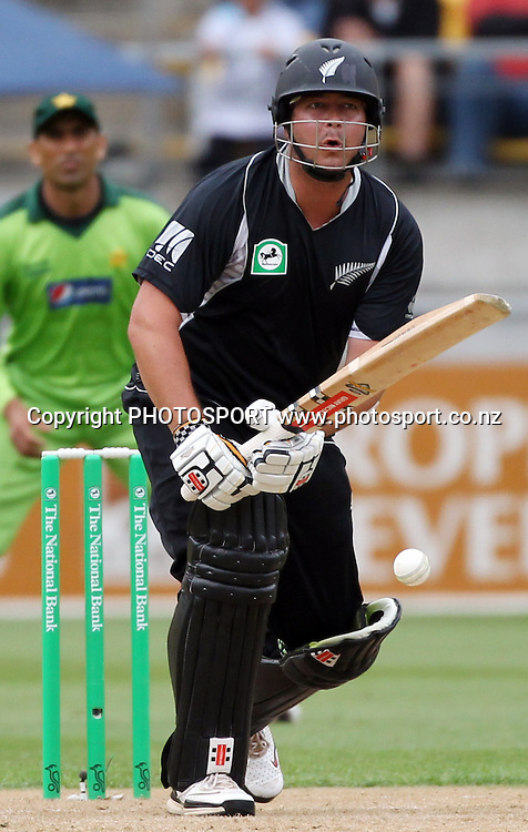 NZ Opening batsman Jesse Ryder batting. New Zealand Black Caps v Pakistan, ODI Cricket. Match 1, Westpac Stadium, Wellington, New Zealand. Saturday 22 January 2011. Photo: Andrew Cornaga/photosport.co.nz