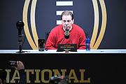 Jan 5, 2019; San Jose, CA, USA; Alabama Crimson Tide head coach Nick Saban during the College Football Playoff Championship Media Day at SAP Center.
