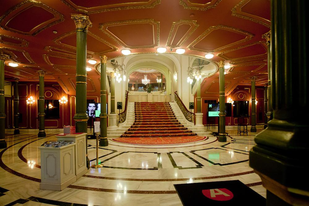 Foyer of opera house in Bilbao, Spain