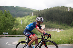 Natalie Kerwin (NZL) of Veloconcept Cycling Team climbs during Stage 3 of the Emakumeen Bira - a 77.6 km road race, starting and finishing in Antzuola on May 19, 2017, in Basque Country, Spain. (Photo by Balint Hamvas/Velofocus)