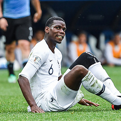 Paul Pogba of France looks dejected during 2018 FIFA World Cup Quarter Final match  between France and Uruguay at Nizhniy Novgorod Stadium on July 6, 2018 in Nizhniy Novgorod, Russia. (Photo by Anthony Dibon/Icon Sport)