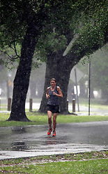02 May 2013. New Orleans, Louisiana,  USA. .With flash flood warnings in effect for New Orleans and surrounding parishes, Audubon park quickly resembled a lake..Photo; Charlie Varley.
