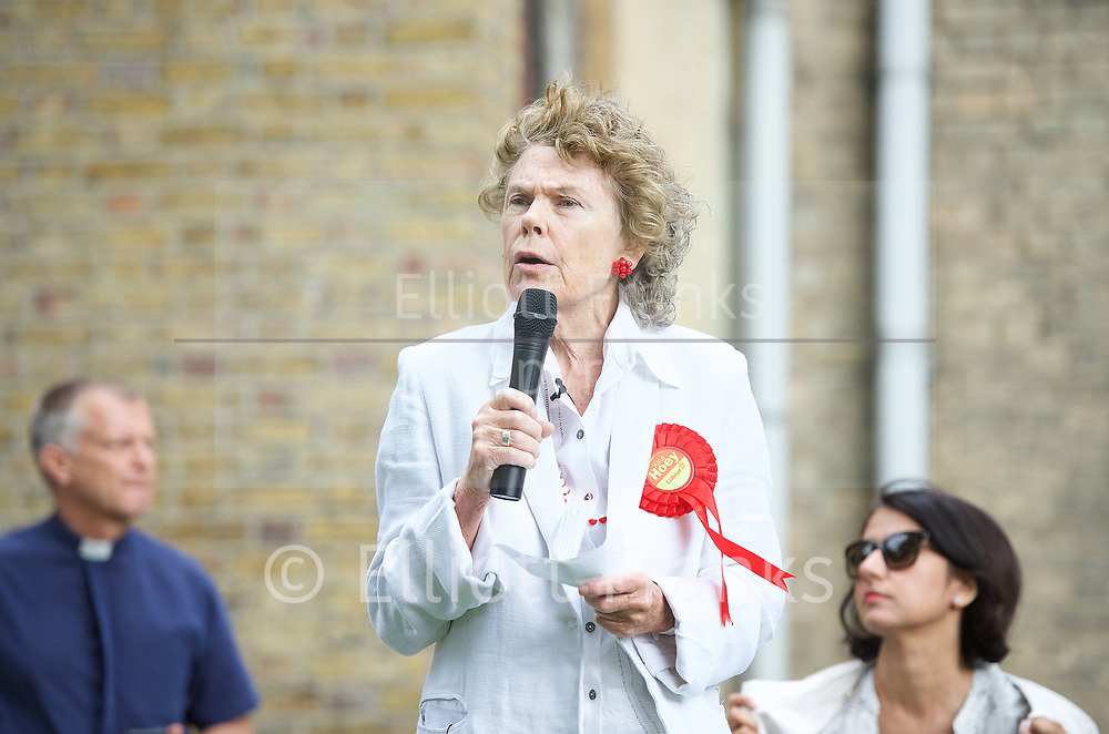 Vauxhall Hustings 2017 General Election Campaign at St Mark's Church, Kennington, London, Great Britain <br /> 27th May 2017 <br /> <br /> Kate Hoey	<br /> Labour's candidate 		<br /> <br /> <br /> Photograph by Elliott Franks <br /> Image licensed to Elliott Franks Photography Services Vauxhall Outdoor Hustings at St. Mark's Church, 337 Kennington Park Road, London SE11 4PW. A General Election hustings for the Vauxhall constituency has been called by Steve Coulson, the Vicar of St. Mark&rsquo;s Kennington, and Chair of the Friends of St. Mark&rsquo;s Churchyard. The outdoor event will take place at St Mark&rsquo;s on 18 April as part of the popular Oval Farmer&rsquo;s Market.