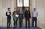 Amsterdam,  7-10-2016  <br /> <br /> King Willem-Alexander handed over the Royal Prize of Free Painting Art at The Royal Palace of Amsterdam.<br /> <br /> COPYRIGHT ROYALPORTRAITS EUROPE/ BERNARD RUEBSAMEN