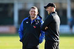 Bath Rugby first team coaches Toby Booth and Girvan Dempsey look on prior to the match - Mandatory byline: Patrick Khachfe/JMP - 07966 386802 - 17/11/2018 - RUGBY UNION - The Recreation Ground - London, England - Bath Rugby v Worcester Warriors - Gallagher Premiership Rugby