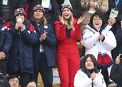 White House Press Secretary Sarah Huckabee Sanders, IOC executive board member Angela Ruggiero and Ivanka Trump attend the Men's Snowboarding Big Air Final at the Alpensia Ski Jumping Centre during day fifteen of the PyeongChang 2018 Winter Olympic Games in South Korea.