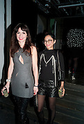 LARA BOHINC; HANNAH BHUIYA, Browns Club Monaco launch. hosted by Lou Doillon, at the Schools of the Royal Academy of Art. Piccadilly, London. 19 February 2010.  .-DO NOT ARCHIVE-© Copyright Photograph by Dafydd Jones. 248 Clapham Rd. London SW9 0PZ. Tel 0207 820 0771. www.dafjones.com.