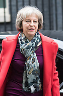 Downing Street, London, February 11th 2016. Home Secretary Theresa May attends the weekly cabinet meeting. <br /> Picture by Paul Davey/Focus Images Ltd +447966 016296<br /> 01/03/2016