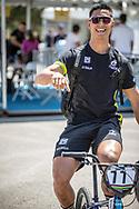 Men Elite #77 (SAKAKIBARA Kai) AUS arriving on race day at the 2018 UCI BMX World Championships in Baku, Azerbaijan.