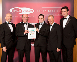 Centra finalist in the Edward Dillon/Santa Rita Estates Centra Off Licence and Wine Store of the Year is Centra Point Road, Crosshaven, Co. Cork. Pictured from left to right are  Donagh McClafferty, Musgraves, Bernard Lynch and Conor Middletown, Centra Crosshaven, Tony Reade, Edward Dillon and Tom Lethaby, Santa Rita Estates