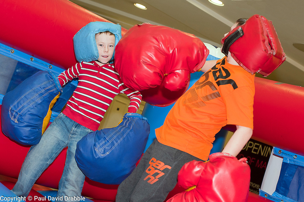 "Tommy Gunstone and Jack Maddock at the launch of the ""Winning The Fight For Breath  with COPD Campaign"" in Meadowhall Shopping Centre Sheffield on Saturday 18th February 2012..www.pauldaviddrabble.co.uk..18th February 2012 -  Image © Paul David Drabble"