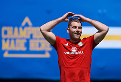 LOS ANGELES, USA - Saturday, May 26, 2018: Wales' Sam Vokes during a training session at the UCLA Drake Track and Field Stadium ahead of the International friendly match against Mexico. (Pic by David Rawcliffe/Propaganda)