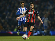 AFC Bournemouth midfielder Harry Arter during the Sky Bet Championship match between Brighton and Hove Albion and Bournemouth at the American Express Community Stadium, Brighton and Hove, England on 10 April 2015.