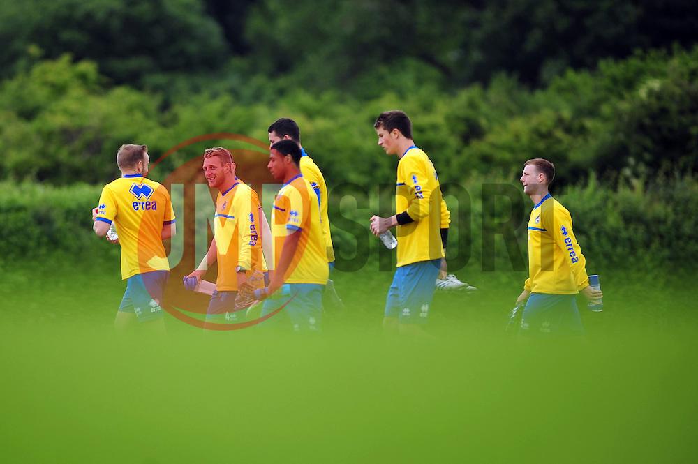 The players arrive for pre season training - Photo mandatory by-line: Dougie Allward/JMP - Tel: Mobile: 07966 386802 24/06/2013 - SPORT - FOOTBALL - Bristol -  Bristol Rovers - Pre Season Training - Npower League Two