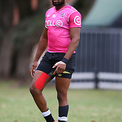 DURBAN, SOUTH AFRICA - MAY 15: Lukhanyo Am of the Cell C Sharks during the Cell C Sharks training session at Jonsson Kings Park on May 15, 2018 in Durban, South Africa. (Photo by Steve Haag/Gallo Images)