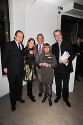 Left to right, SIMON DE PURY, PRINCESS BEATRICE OF YORK , DR ADRIAN WHITESON Life president of the Teenage Cancer Trust MYRNA WHITESON Life president of the Teenage Cancer Trus and SIMON DAVIES CEO Teenage Cancer Trust at the Polo Jeans Co. hosted Art Stars Auction in support of the Teenage Cancer Trust held at Phillips de Pury & Co, Howick Place, London on 6th December 2010.