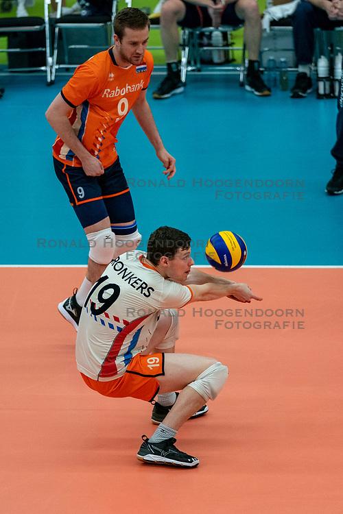 09-06-2019 NED: Golden League Netherlands - Spain, Koog aan de Zaan<br /> Fourth match poule B - The Dutch beat Spain again in five sets in the European Golden League / Just Dronkers #19 of Netherlands