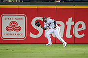 ATLANTA, GA - AUGUST 30:  Right fielder Jason Heyward #22 of the Atlanta Braves makes a play on a fly ball during the game against the Washington Nationals during the game at Turner Field on August 30, 2011 in Atlanta, Georgia.  (Photo by Mike Zarrilli/Getty Images)