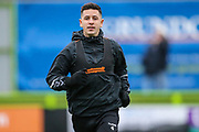 Forest Green Rovers Lloyd James(4) warming up during the EFL Sky Bet League 2 match between Forest Green Rovers and Mansfield Town at the New Lawn, Forest Green, United Kingdom on 15 December 2018.