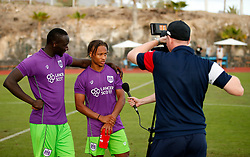 Famara Diedhiou and Bobby Reid of Bristol City - Mandatory by-line: Matt McNulty/JMP - 22/07/2017 - FOOTBALL - Tenerife Top Training - Costa Adeje, Tenerife - Bristol City v Atletico Union Guimar  - Pre-Season Friendly