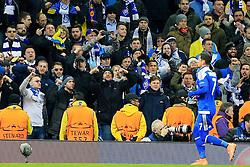 Dynamo Kiev fans cheer on Oleksandr Lakovenko  - Mandatory byline: Matt McNulty/JMP - 15/03/2016 - FOOTBALL - Etihad Stadium - Manchester, England - Manchester City v Dynamo Kyiv - Champions League - Round of 16