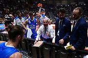 Menetti Massimiliano , time out<br /> Lega Basket Serie A 2019/2020<br /> 4° Giornata - Andata <br /> Pompea Fortitudo Bologna-Dè Longhi Treviso  77-69 <br /> Bologna PalaDozza13/10/2019 Ore 20:45<br /> Foto GiulioCiamillo/Ciamillo