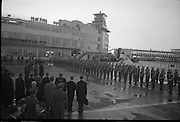 President Eamon de Valera and Irish Cadets arrive home from President Kennedy's funeral in Washington..27.11.1963,