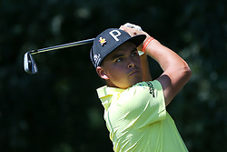 September 21, 2018 - Atlanta, Georgia, United States - Rickie Fowler tees off the second hole during the second round of the 2018 TOUR Championship. (Credit Image: © Debby Wong/ZUMA Wire)