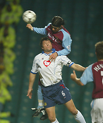 BIRMINGHAM, ENGLAND - Tuesday, January 6, 2004: Aston Villa's Juan Pablo Angel scores the opening goal against Portsmouth during the Premiership match at Villa Park. (Pic by David Rawcliffe/Propaganda)