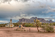 Elvis Chapel in the Superstition Mountains, southern Arizona