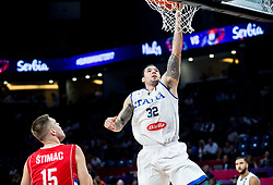 Christian Burns of Italy during basketball match between National Teams of Italy and Serbia at Day 14 in Round of 16 of the FIBA EuroBasket 2017 at Sinan Erdem Dome in Istanbul, Turkey on September 13, 2017. Photo by Vid Ponikvar / Sportida