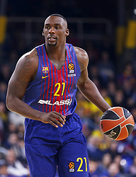 December 8, 2017 - Barcelona, Catalonia, Spain - Rakim Sanders during the match between FC Barcelona v Fenerbahce corresponding to the week 11 of the basketball Euroleague, in Barcelona, on December 08, 2017. (Credit Image: © Urbanandsport/NurPhoto via ZUMA Press)