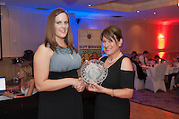 Roy Murphy Memorial Award went to Niamh Coyne, Clifden presented by Ability West CEO Breda Crehan-Roche at the Ability West, Best Buddies ball at the Menlo Park Hotel, Galway. Photo:Andrew Downes Photography.