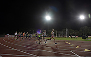May 3, 2018; Stanford, CA, USA; Runners in the 5,000m during the Payton Jordan Invitational at Cobb Track &  Angell Field.