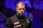 Barry Hawkins pulls a face during the Ladbrokes World Grand Prix at Preston Guildhall, Preston, United Kingdom on 12 February 2017. Photo by Pete Burns.