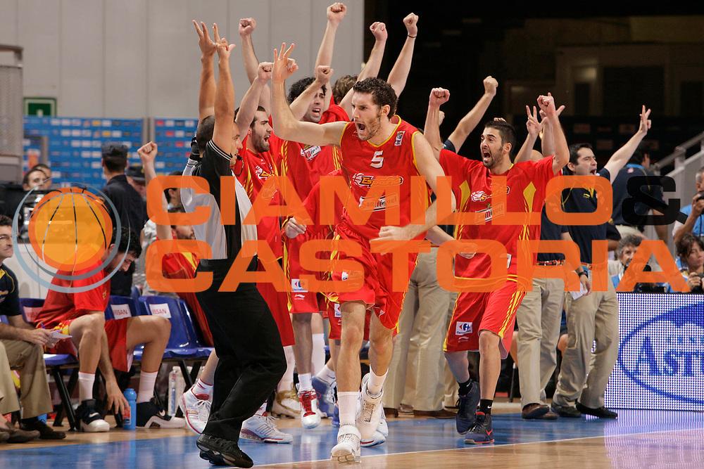 DESCRIZIONE : Madrid Spagna Spain Eurobasket Men 2007 Finals Finale Spagna Russia Spain Russia<br /> GIOCATORE : Rudy Fernandez<br /> SQUADRA : Spagna Spain<br /> EVENTO : Eurobasket Men 2007 Campionati Europei Uomini 2007 <br /> GARA : Spagna Russia Spain Russia<br /> DATA : 16/09/2007 <br /> CATEGORIA : Esultanza<br /> SPORT : Pallacanestro <br /> AUTORE : Ciamillo&amp;Castoria/S.Silvestri<br /> Galleria : Eurobasket Men 2007 <br /> Fotonotizia : Madrid Spagna Spain Eurobasket Men 2007 Finals Finale Spagna Russia Spain Russia<br /> Predefinita :