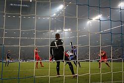 GELSENKIRCHEN, Dec. 20, 2017  Breel Embolo (3rd R) of Schalke 04 shoots the ball during the German DFB Pokal match between Schalke 04 and FC Koln at the Veltins Arena in Gelsenkirchen, Germany, on Dec. 19, 2017. (Credit Image: © Joachim Bywaletz/Xinhua via ZUMA Wire)
